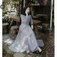 Pakaian Baju Busana Muslim Wanita Maxi Dress PLUMATE Termurah Terbaru