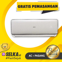 AUX ASW-5B4FOR1 + Pasang AC Split Low Watt 1/2 PK - Putih