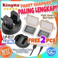 KingMa Dual Charger LP-E17 Canon Battery LPE17 Kamera Eos M3 750D DSLR