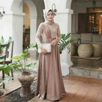 Busana Muslim Wanita Baju Pesta Maxi Dress STEVIA Gamis Syari Terbaru
