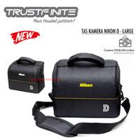 Tas Selempang Kamera + Strap Nikon Canon DSLR Mirrorless Hitam Kuning