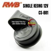 Klakson Keong Single 12v - Joss Buat Motor - Klakson Motor Suara Mobil