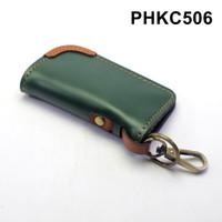 dompet stnk mobil motor kulit - gantungan kunci hijau tan - PHKC506