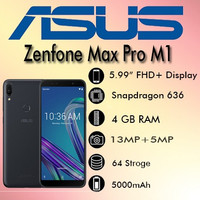 Asus Zenfone Max Pro M1 RAM 4GB/64GB ZB602KL Garansi Resmi Asus TAM