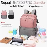 DIAPER BAG MACHINE BIRD ORIGINAL PERFECTION SERIES /TAS DIAPER BAG USB