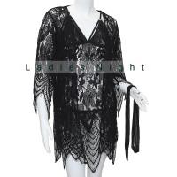 Sleepwear Emillia Kimono Lingerie With Innerdress Gstring and Belt