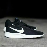 Sepatu Ori Nike Tanjun ORIGINAL Black White Hitam putih pria wanita