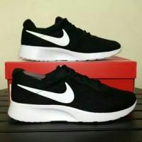 Sepatu Ori Nike Tanjun ORIGINAL Black white hitam pria wanita
