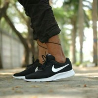 Sepatu Nike Tanjun ORIGINAL 100% Black White Hitam putih pria wanita
