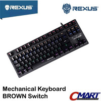 Rexus RX-MX51 Keyboard Gaming Mechanical MX5.1 BROWN Switch RX-MX5.1BR