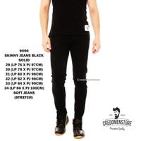 Celana Jeans Skinny Hitam / Celana Jeans Pria / Celana Panjang Cowok