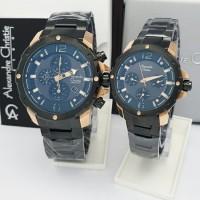 jam tangan couple Alexandre christie original AC 6410 CP
