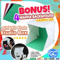 Mini LED photo studio box Portable kotak lipat Lampu Lengkap Murah