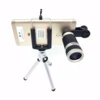 Lensa Telezoom 8X Jepit Tripod
