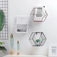 rak majalah floathing shelf rak kutek rak display minimalis