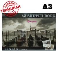 Kiky Sketch Book A3 / Buku Gambar Sketsa Ukuran A3