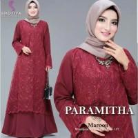 Busana Muslim Wanita Baju Pesta Dress Paramita Gamis Syari Terbaru