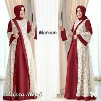 Busana Muslim Wanita Maxi Dress Meizza Setelan Gamis Syari Terbaru