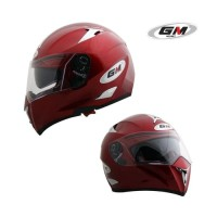 Helm GM Airborne red maroon solid Airborned fullface