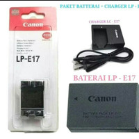 paket batre + charger kamera canon eos m3 m5 m6 750D 760D 800D