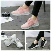 SEPATU WANITA Sepatu kets M fasion cewek wanita hitam putih pink