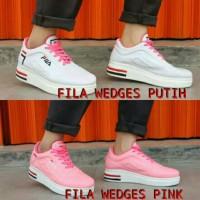 SEPATU WEDGES WANIA Sepatu kets fila cewek wanita pink putih murah
