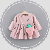 JUAL Baby Princess Long Sleeve Skirt Cotton Warm Outerwear Dress