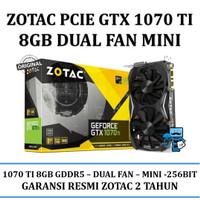 VGA Zotac PCIE GTX 1070 Ti 8GB DDR5 Dual Fan Mini - (Original Resmi)