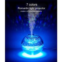 Humidifier Lampu Tidur Hias Dekorasi Kamar LED Night Projection 0,5L