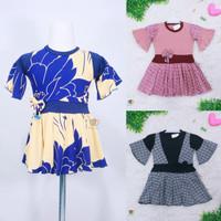 Baju Aurell uk Bayi - 6 Tahun / Atasan Perempuan Dres Bunga Cutbray - BAYI-2 Tahun