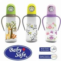 baby safe feeding bottle with handle 240ml botol dot susu bayi