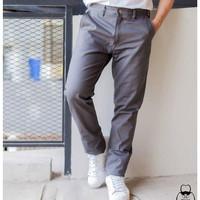 Celana Chino Grey Pria Premium Abu-abu