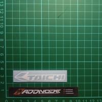 Sticker / Stiker Visor Helm Taichi V.1 (Putih)