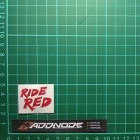 Sticker / Stiker Visor Helm Ride Red V.1 (Merah)