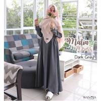 Gamis Malia by Wanoja Hijab - Gamis Supernova Polos Busui Murah