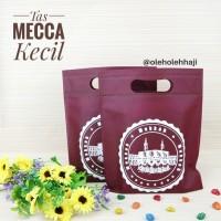 Tas Mecca Souvenir Kecil Bahan Kain Spunbond Goodie Bag Oleh Oleh Haj