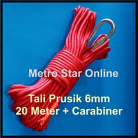 Tali Prusik 6mm 20M + Carabiner