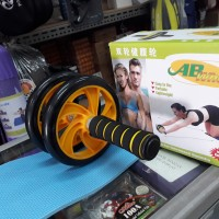 Double Wheel Roller Abdominal Exercise AB / Alat Fitness Roda perut