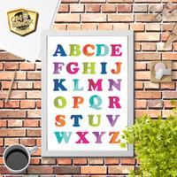 Poster Pajangan Dinding belajar abjad alphabet anak 2 scandinavia