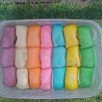 Pancake durian mini rainbow isi 21