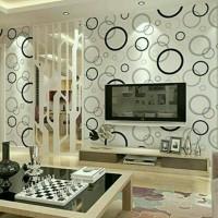 tisyaShopz Wallpaper Sticker uk: 45cm x 10 meter , Bubble / Ring Black