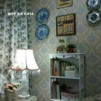 FREE ONGKIR JNT - Wallpaper Sticker uk: 45 cm x 10 meter, motif Flower