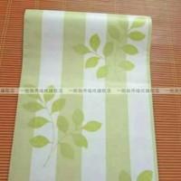 Walpaper dinding garis hijau daun 45 cm x 10 meter wallpaper sticker