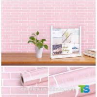 Wallpaper sticker Bata Pink Minimalis 45 cm x 10 meter walpaper dindin
