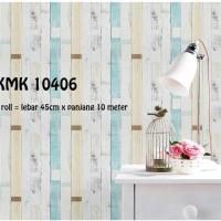 Walpaper dinding Vintage Biru Krem 45 cm x 10 meter wallpaper sticker