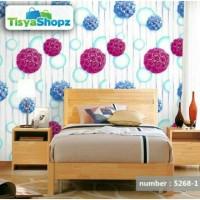tisyaShopz WALLPAPER 10 METER / STIKER DINDING BUBBLE UNGU 3 DIMENSI