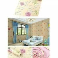 FREE ONGKIR - Wallpaper Sticker uk: 45 cm x 10 meter, motif Bunga