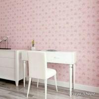 tisyaShopz Wallpaper sticker Shabby Flower Pink 10 METER / walpaper