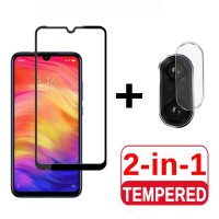 Tempered Glass Redmi Note 7 Pelindung Layar dan Kamera Belakang