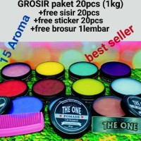 Terlaris PAKET 1KG 20pcs pomade the one free sisir & sticker Keren